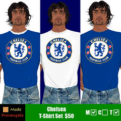 Chelsea T panel pic (Montana Corleone @ Mode Provençale) Tags: fashion football clothing chelsea soccer avatar womens secondlife mens tshirts unisex tops apparel tees chelseafc modeprovençale modeprovencale