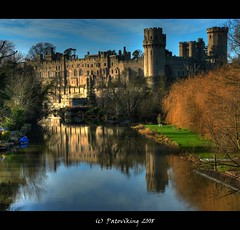 Warwick castle (Patrik Radacovsky) Tags: uk reflection castle water river landscape warwick warwickshire platinumphoto patoviking