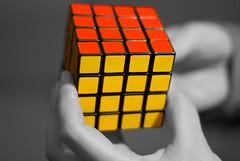 Rubik's Cube (A. Saleh) Tags: blackandwhite lebanon colors photoshop puzzle cube rubik saleh asaad wwwasaadsalehcom