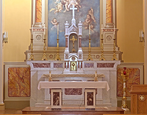 Saint Mary of the Barrens Roman Catholic Church, in Perryville, Missouri, USA - altar