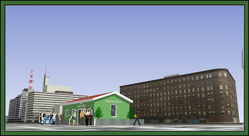 Tearoom the Green House 1960s-Google SketchUp-3