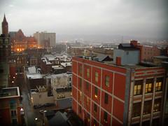 Overcast (thadd) Tags: ohio red buildings grey evening downtown cityhall cincinnati bricks overcast rainy bleh