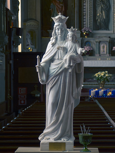 Saint Joseph Shrine, in Saint Louis, Missouri, USA - statue of Mary