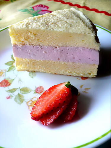 strawberry double cheesecake