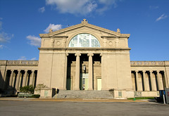 Museum Of Science And Industry West Side Entrance (neopsychedelia) Tags: park blue b sky sculpture sun chicago reflection history industry field statue museum greek golden expo natural roman fine columns arts charles fair palace science jackson hyde exposition worlds 1893 atwood msi columbian