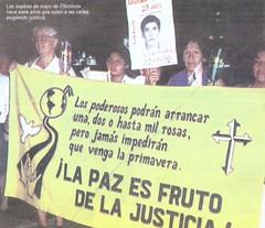 Madres de víctimas del Grupo Colina