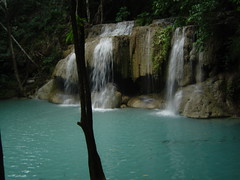 Chasing Waterfalls (Janiscula) Tags: blue naturaleza nature water rio azul forest river thailand waterfall agua rainforest natural selva tailandia falls waterfalls thai erawan cascada erawannationalpark 5photosaday tailands