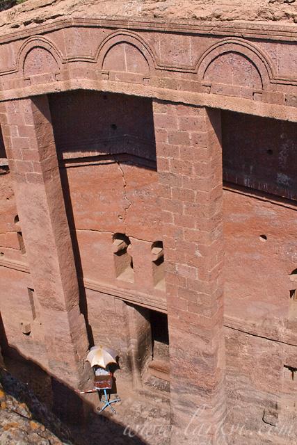 Entrance, Bete Medhane Alem, Lalibela, Woldia, Ethiopia, October 2007