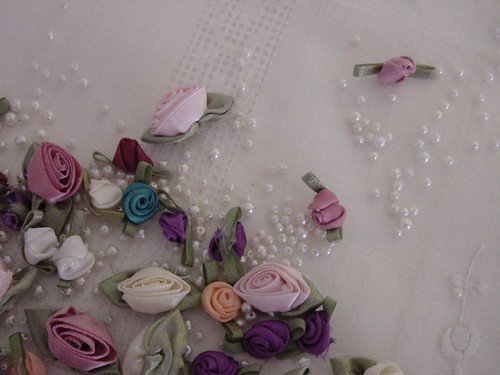Ribbon Roses and Pearls
