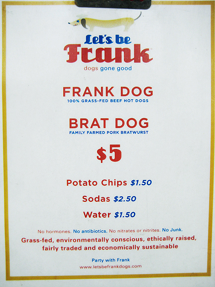 Let's Be Frank Menu