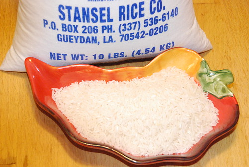 Rice in the raw