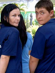 Schapelle Corby, left, Renee Lawrence, right