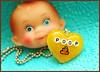 Cute Poop (stOOpidgErL) Tags: brown yellow glitter japanese diy necklace doll head handmade craft jewelry sugar plastic pile poop shit kawaii resin pendant terd stoopidgerl poopreport unichi