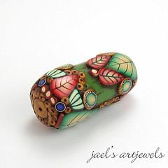 green drum bead