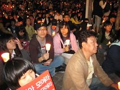 Candlelit vigil (jonfrewin) Tags: beef south protest korea seoul vigil candlelit