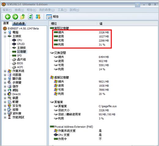 我的桌上型電腦—未安裝 RamDisk 前