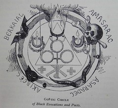 Goetic Circle of Black Evocations (University of Glasgow Library) Tags: occult magic spiritualism 19thcentury oldbooks occultism witchcraft illustration blackmagic ritual demons devil demonology