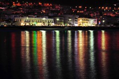 Night rainbow... (zio.paperino) Tags: trip sea vacation italy mer holiday nature water colors night geotagged lights mar rainbow nikon europe italia mare natura palermo acqua sicilia cefal d90 ziopaperino mygearandme mygearandmepremium mygearandmesilver mygearandmegold