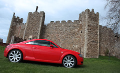 Suffolk casTTle (pg tips2) Tags: uk sunset red england cold castle easter suffolk spring ruins july tudor turbo valve walls tt 20 audi coupe vag 2010 225 quattro englishheritage redsportscar littleredsportscar
