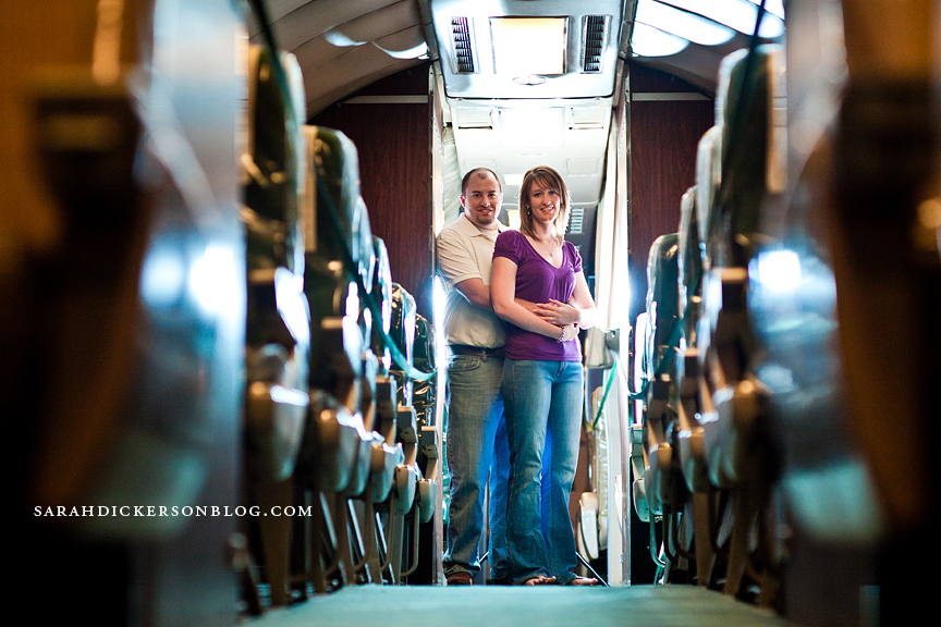 Airline History Museum Kansas City engagement session