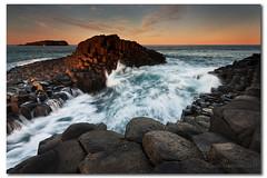 Chasing the light (danishpm) Tags: ocean sunset seascape canon rocks wave australia nsw aussie aus manfrotto lastlight eos450d fingalheads 450d bestofaustralia basaltrocks tweedshire sorenmartensen hitechgradfilters 09ndreversegrad