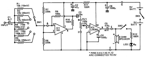 Bench Amplifier Circuit