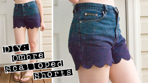 DIY - Ombre Scalloped Shorts