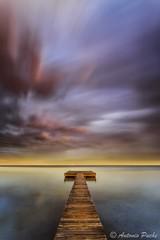 Pinceladas (Antonio Puche) Tags: sunset beach landscape atardecer marine playa paisaje balneario antoniopuche