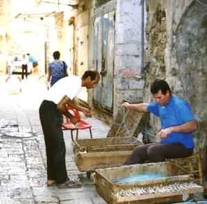 Trabajadores en Israel