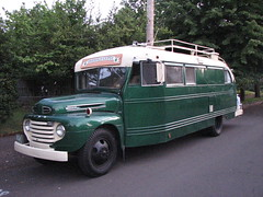 Emerald Gypsy (origamidon) Tags: old usa bus ford vintage vermont conversion antique wayne funky converted schoolbus motorhome f5 1949 vt repurposed eg skoolie housetruck shortbody housebus egypsy emeraldgypsy origamidon cornwallvermontusa donshall