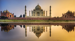 Farewell India - The Taj Mahal (Stuck in Customs) Tags: world pictures travel november light sunset panorama india reflection art water beautiful architecture reflections wonder photography photo ancient nikon colorful pretty shoot photographer shot dynamic stuck photos minaret buddhist gorgeous indian muslim details tomb perspective dream taj tajmahal agra palace images fresh unesco divine spire professional adventure international mausoleum photograph stunning burial pro charming foreign fabulous capture technique hdr tutorial trey customs 2007 artisitic solemn wonderoftheworld engaging travelphotography ratcliff hdrphoto d2xs hdrtutorial stuckincustoms treyratcliff muslimregionarchitecture