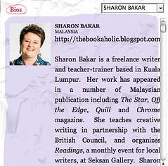 Singapore Writers Festival  Sharon Bakar