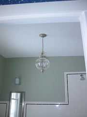 Downstairs bathroom, chandelier