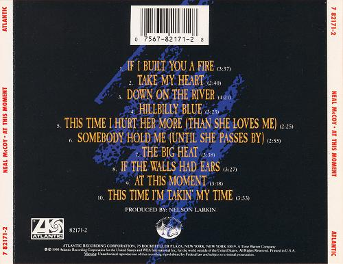 Neal McCoy - At This Moment (1991, debut) (rear)