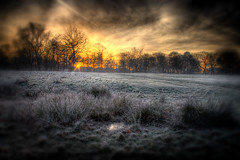 Fire And Ice (BarneyF) Tags: park winter sky ice liverpool sunrise landscape fire frost hdr sefton anawesomeshot aplusphoto infinestyle superhearts photofaceoffwinner 7exposure