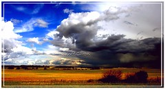 """Nice Day... Meet Stormy Day"" (Rene~Gurl) Tags: blue sky storm west calgary clouds day country stormy alberta opposites attract sunnyday feilds"
