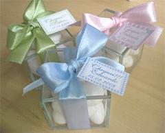 Caixinha de vidro com amêndoas (Sweet Presentes) Tags: lembrancinha amêndoas matrnidade