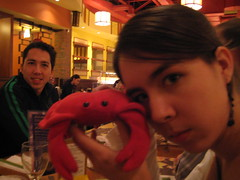 Mongolian Grill (16) (chicgeekuk) Tags: red laura animal toy crab plush claw abroad stuffedanimal seafood claude crabs crustacean claws kishimoto travellingtoys travellingtoy laurakishimoto laurakishimotoca claudeabroad