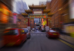 China Town... (LukeDaDuke) Tags: china road uk greatbritain england cars car manchester town gate chinatown unitedkingdom britain