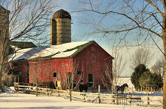 Spring Creek Barn (newagecrap) Tags: winter horses snow wisconsin rural barns farms walworthcounty theunforgettablepictures platinumheartaward pelllake coloursplosion newagecrapphotography
