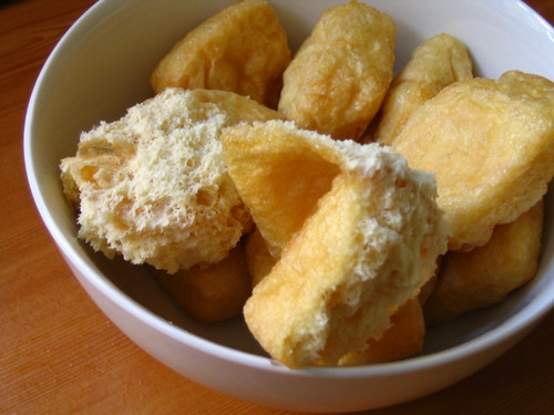 Fried tofu puffs 2