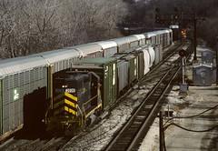 12th Street Viaduct in Kansas City Kansas (Sneebly) Tags: santafe kodachrome64 december1993 atsf nikoncoolscanv trainsaroundkansascity argentineyard