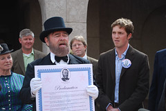 Ulysses S. Grant in Albuquerque delivering the proclamation