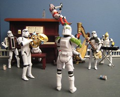 The Rehearsal (ShellyS) Tags: toys miniatures starwars stormtroopers actionfigures