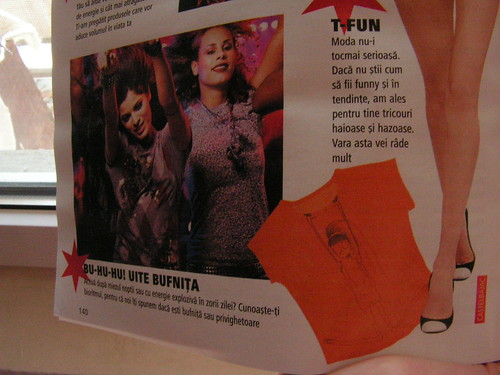 My t-shirt in  Bolero magazine baby steps to world domination at least!