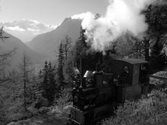 Narrow gauge steam in the Mont Blanc region (Jeremy R. Hartley) Tags: train swiss railway montblanc narrowgauge steamlocomotive emosson
