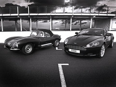 Aston Martin DB9 v Jaguar XKSS (Baby Skinz) Tags: breakfast martin jag xjs supercar v8 goodwood aston stevemcqueen vantage dbs vanquish xk dtype ctype xk8 astonmartindb9 jaguarxkss supercarsunday 1stjune2008