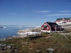 Overlgebolig med udsigt - Ilulissat (pingvin2007) Tags: grnland ilulissat isbjerge