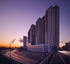 The rock (Andrey Permitin) Tags: longexposure sunset urban architecture modern lights moscow tall   nikond200 tokina1116