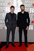 Drew Taggart and Alex Pall of The Chainsmokers attend The BRIT Awards 2017 at The O2 Arena on February 22, 2017 in London, England. (Photo by John Phillips/Getty Images)